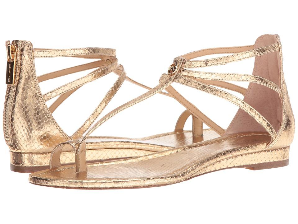 MICHAEL Michael Kors - Camille Sandal (Pale Gold Metallic Snake) Women's Sandals