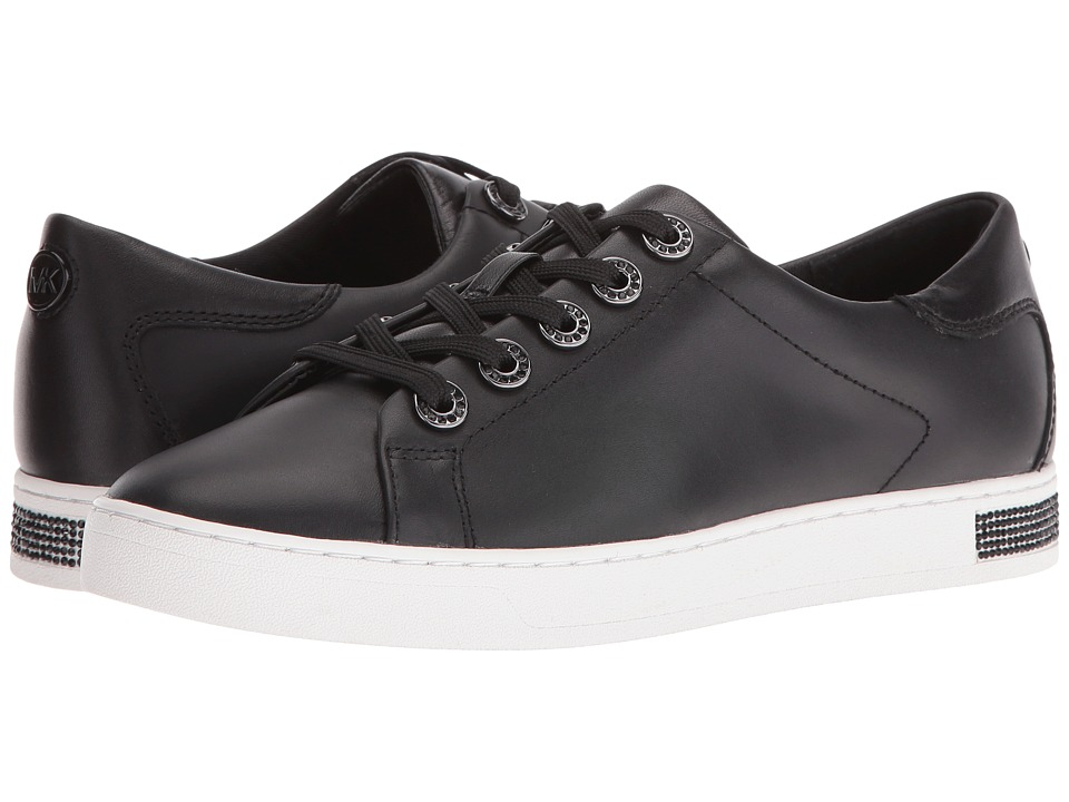 MICHAEL Michael Kors - Halle Sneaker (Black Vachetta/Nappa) Women's Lace up casual Shoes
