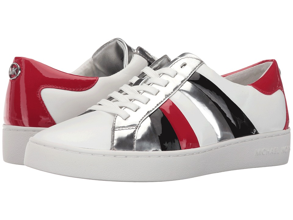 MICHAEL Michael Kors Conrad Sneaker (Optic White/Black Nappa/Patent/Mirror Metallic) Women