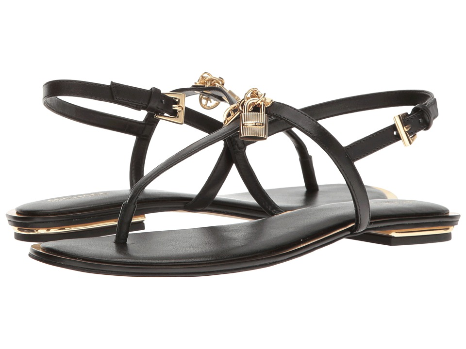 MICHAEL Michael Kors - Suki Thong (Black Smooth Calf) Women's Sandals
