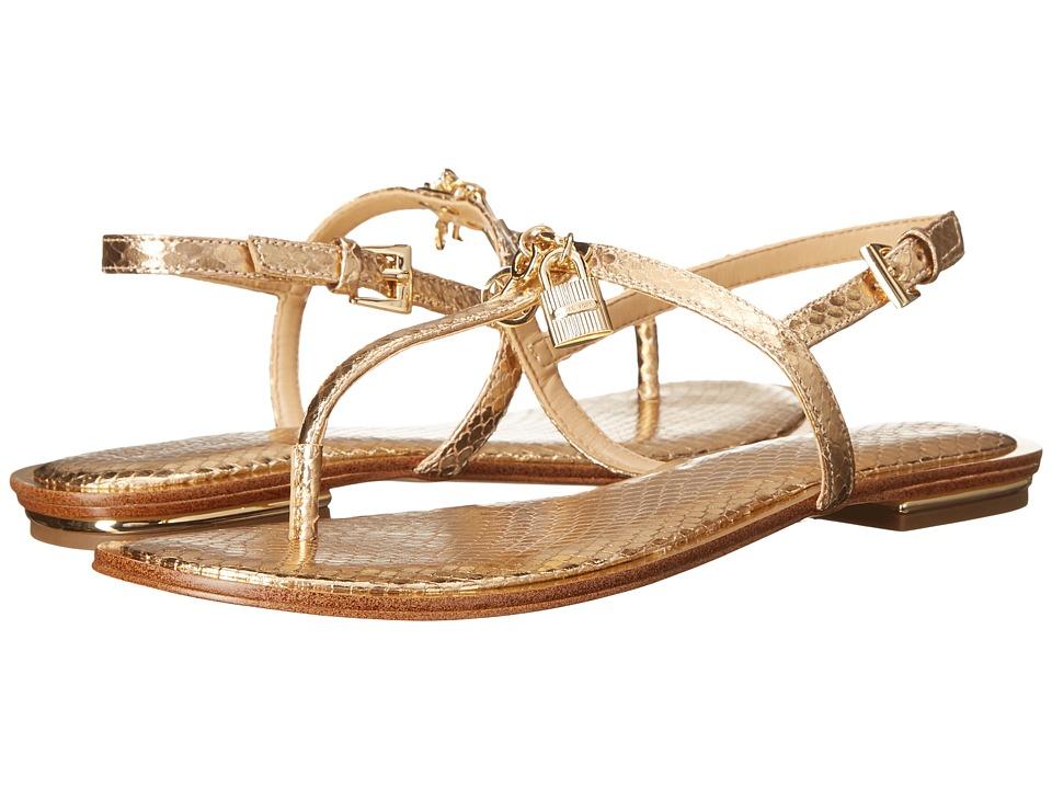 MICHAEL Michael Kors - Suki Thong (Pale Gold Metallic Snake) Women's Sandals