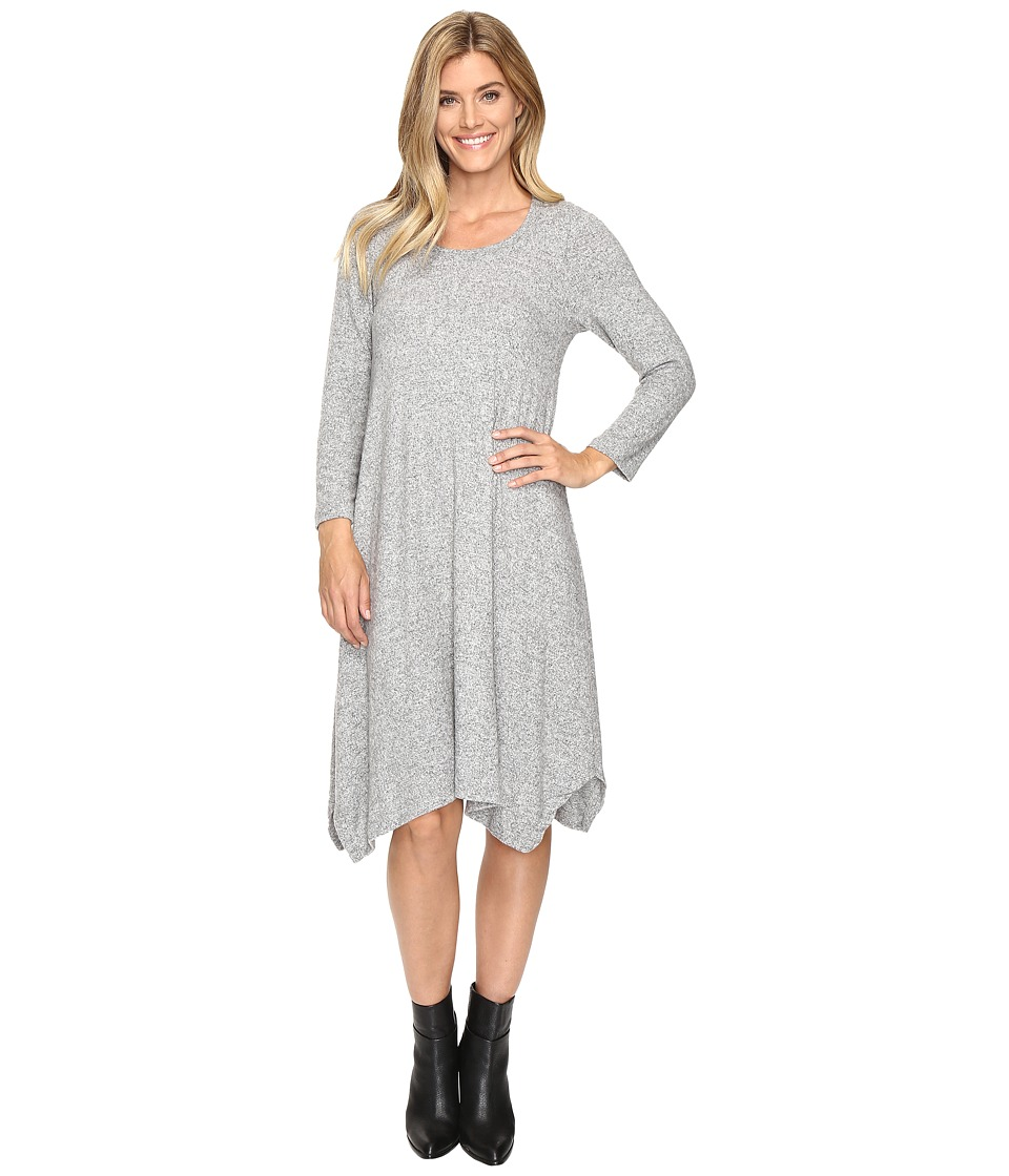 Nally & Millie - Brushed Midi Dress (Heather Grey) Women's Dress