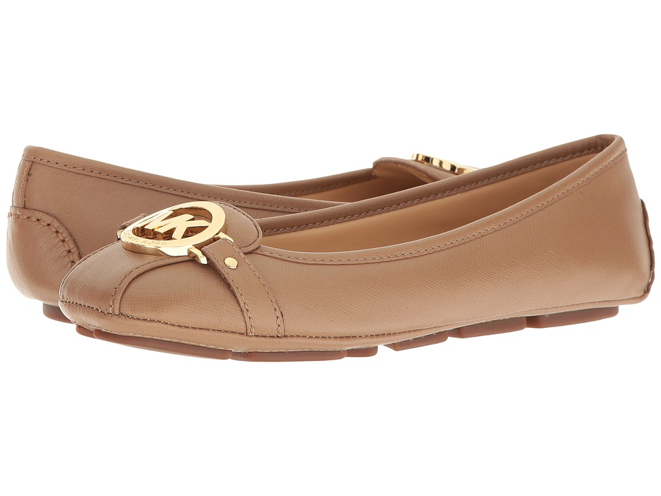 MICHAEL Michael Kors - Fulton Moc (Dark Khaki Saffiano) Women's Slip on Shoes