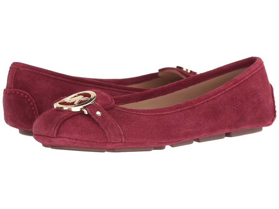 MICHAEL Michael Kors - Fulton Moc (Cherry Sport Suede) Women's Slip on Shoes