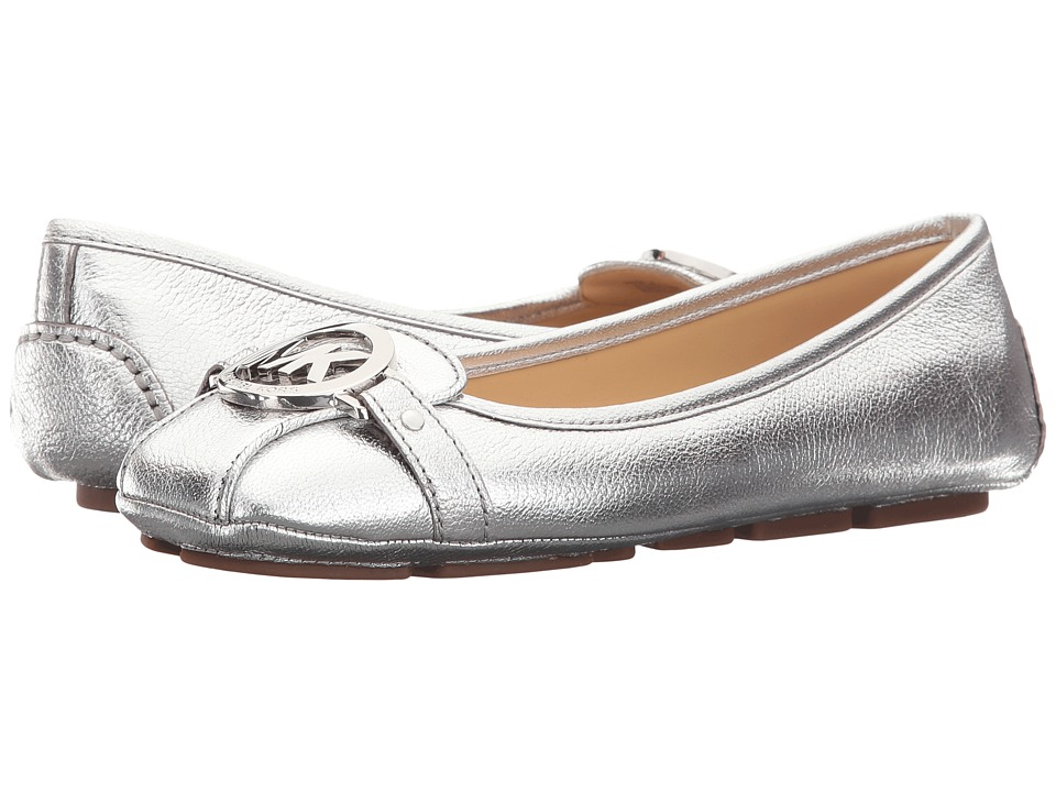 MICHAEL Michael Kors Fulton Moc Silver Pebble Metallic Womens Slip on  Shoes