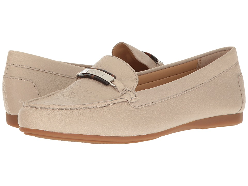 MICHAEL Michael Kors - Nadia Moc (Cement Tumbled Leather) Women's Moccasin Shoes