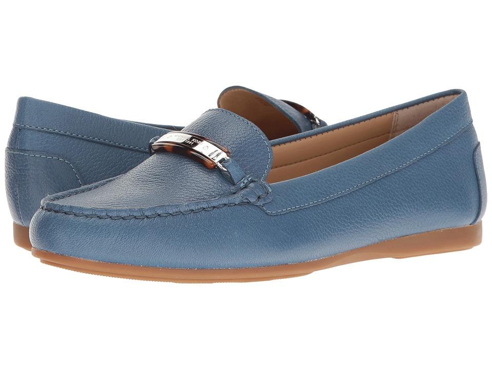 MICHAEL Michael Kors - Nadia Moc (Denim Tumbled Leather) Women's Moccasin Shoes