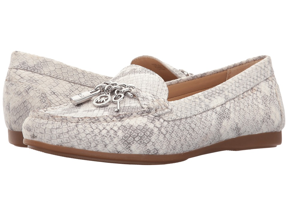 MICHAEL Michael Kors - Suki Moc (Natural Buffed Embossed Python) Women's Moccasin Shoes