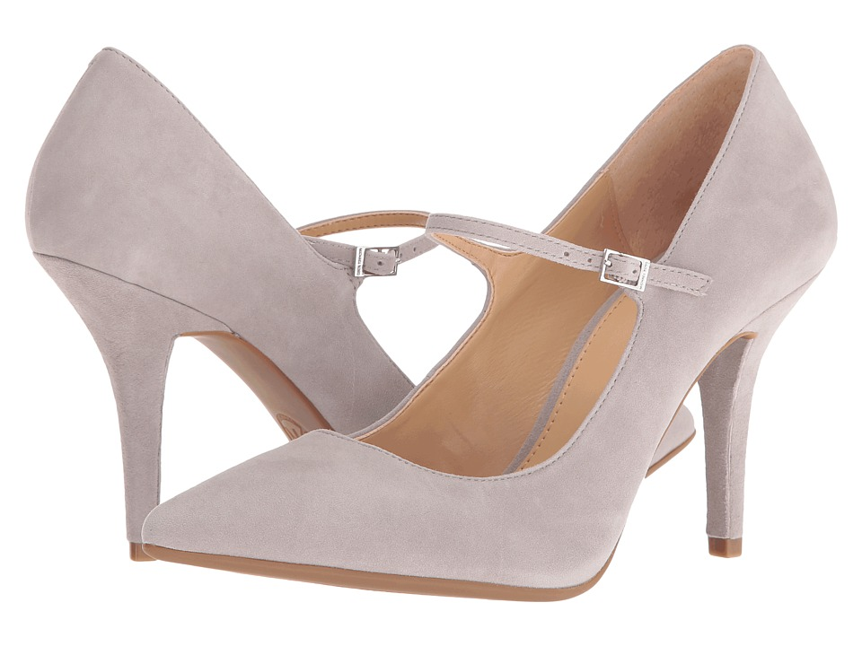 MICHAEL Michael Kors Claire Flex Mary Jane Pearl Grey Kid Suede Womens Maryjane Shoes