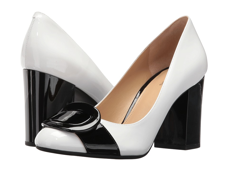 MICHAEL Michael Kors - Pauline Closed Toe (Optic White/Black Patent) Women's Shoes