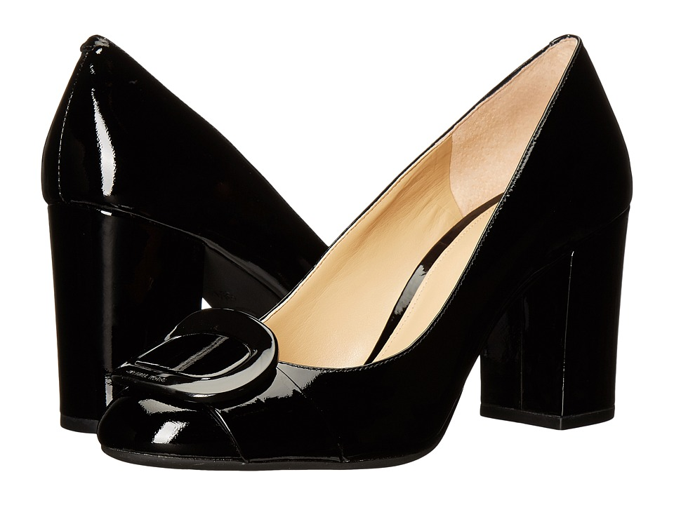 MICHAEL Michael Kors - Pauline Closed Toe (Black Patent) Women's Shoes