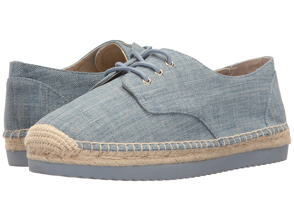 MICHAEL Michael Kors - Hastings Lace-Up (Washed Denim) Women's Shoes