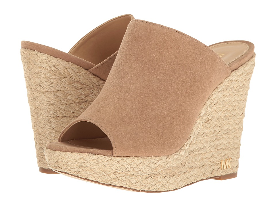 MICHAEL Michael Kors Hastings Mule Dark Khaki Kid Suede Clog-Mule Shoes