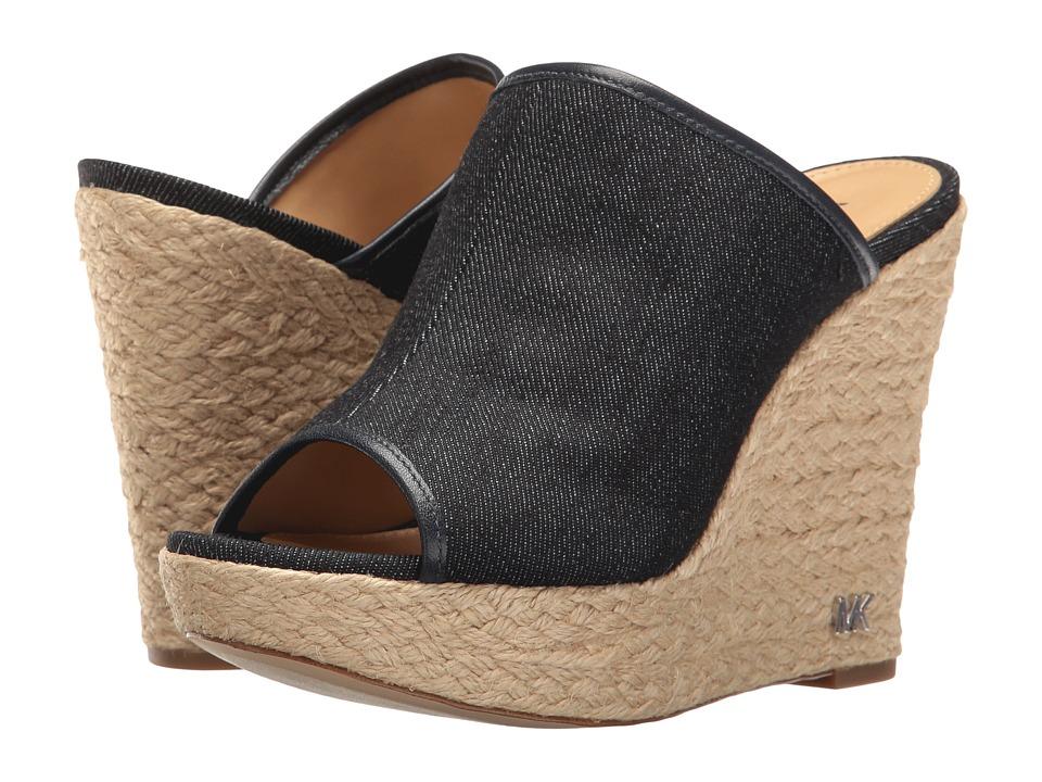 MICHAEL Michael Kors - Hastings Mule (Dark Denim Nappa) Women's Clog/Mule Shoes