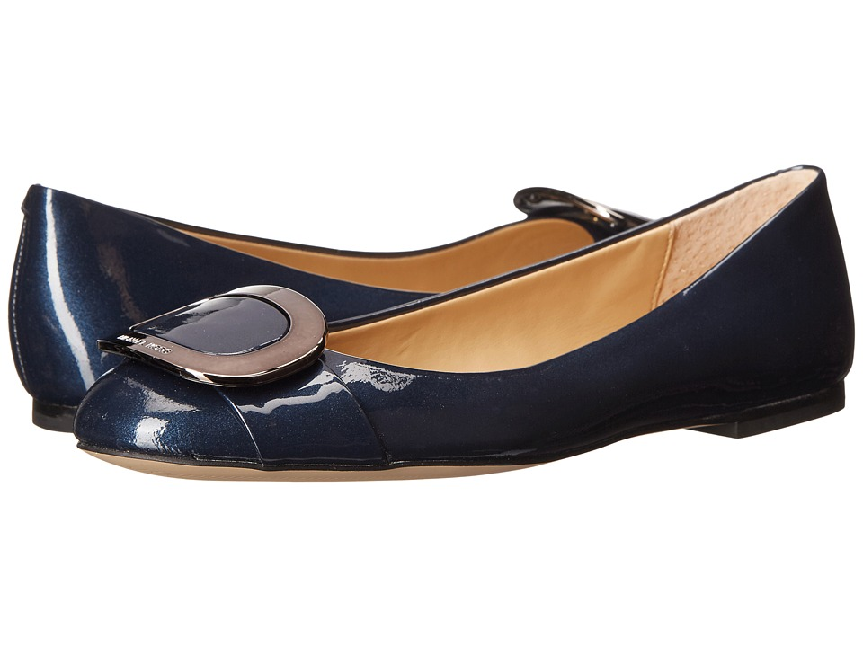 MICHAEL Michael Kors Pauline Ballet Admiral Pearlized Patent Womens Flat Shoes
