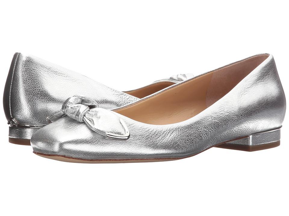 MICHAEL Michael Kors - Liza Ballet (Silver Metallic Nappa) Women's Flat Shoes