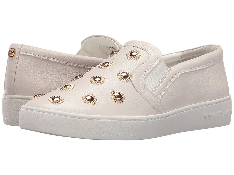MICHAEL Michael Kors - Leo Slip-On (Optic White Tumbled Leather/Starburst Studs) Women's Shoes
