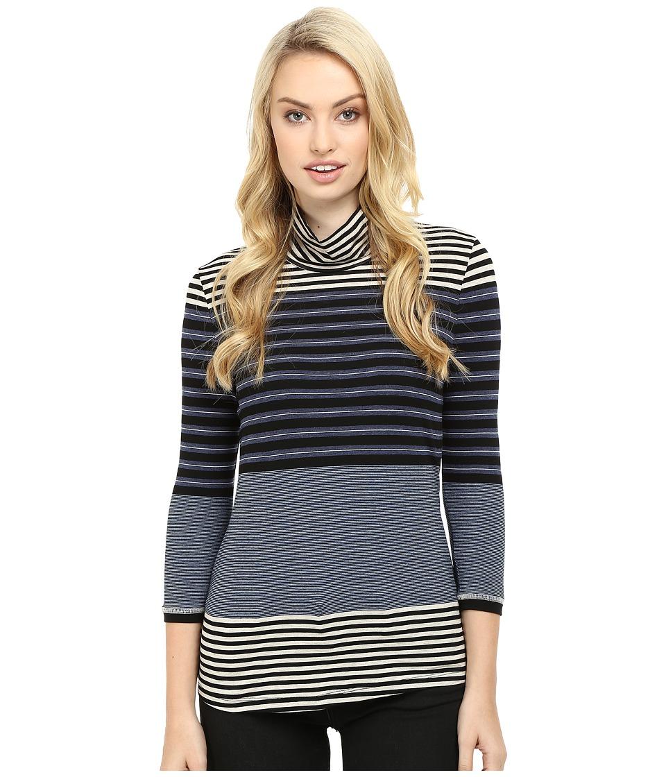 Three Dots - Alanna - 3/4 Sleeve Turtleneck (Multi) Women's Clothing