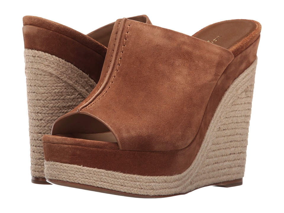 Michael Kors - Charlize (Luggage Sport Suede) Women's Wedge Shoes