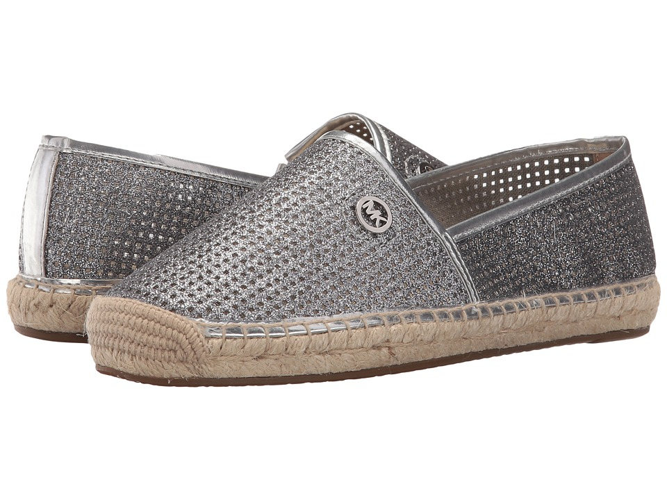 MICHAEL Michael Kors - Kendrick Slip-On (Silver Pixie Fine Perforated Square) Women's Slip on Shoes