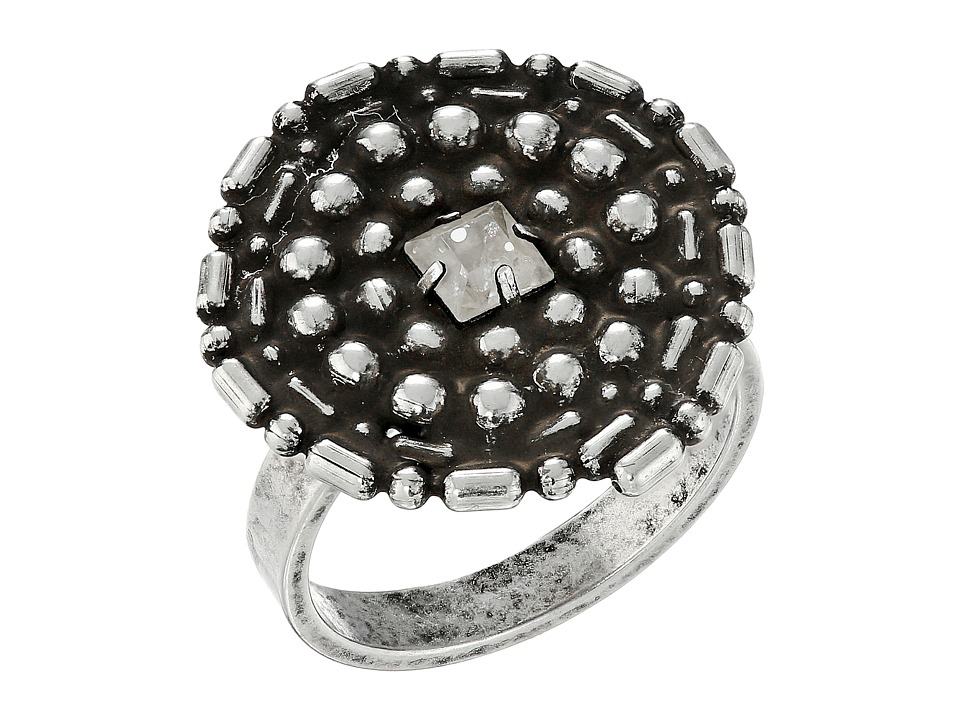 DANNIJO - GAMMA Ring (Ox Silver/Clear) Ring