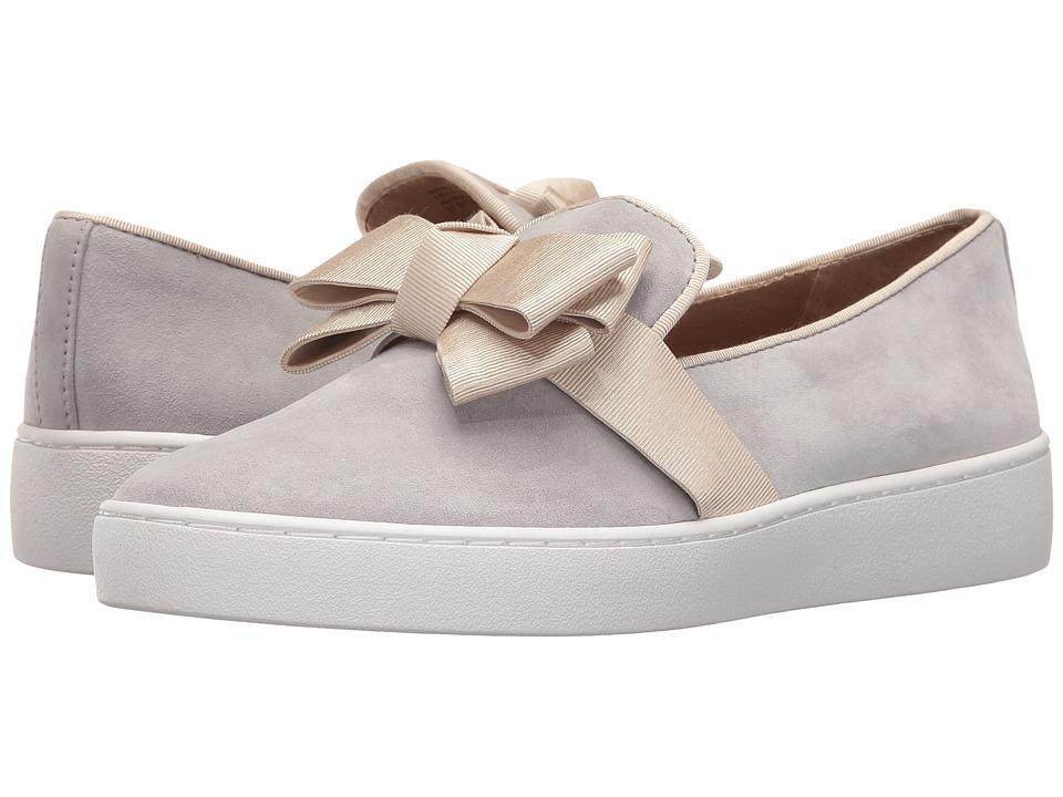 Michael Kors - Val (Cement Kid Suede/Grosgrain) Women's Slip on Shoes