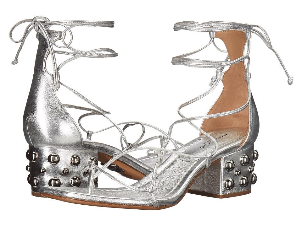 Michael Kors Ayers (Silver Metallic Nappa/Domed Studs) Women