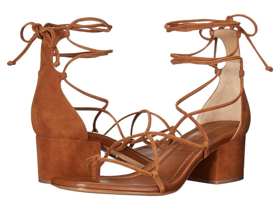 Michael Kors - Ayers (Dark Luggage Kid Suede) Women's Dress Sandals