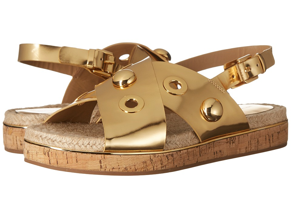 Michael Kors Hallie (Gold Specchio/Jute/Cork) Women