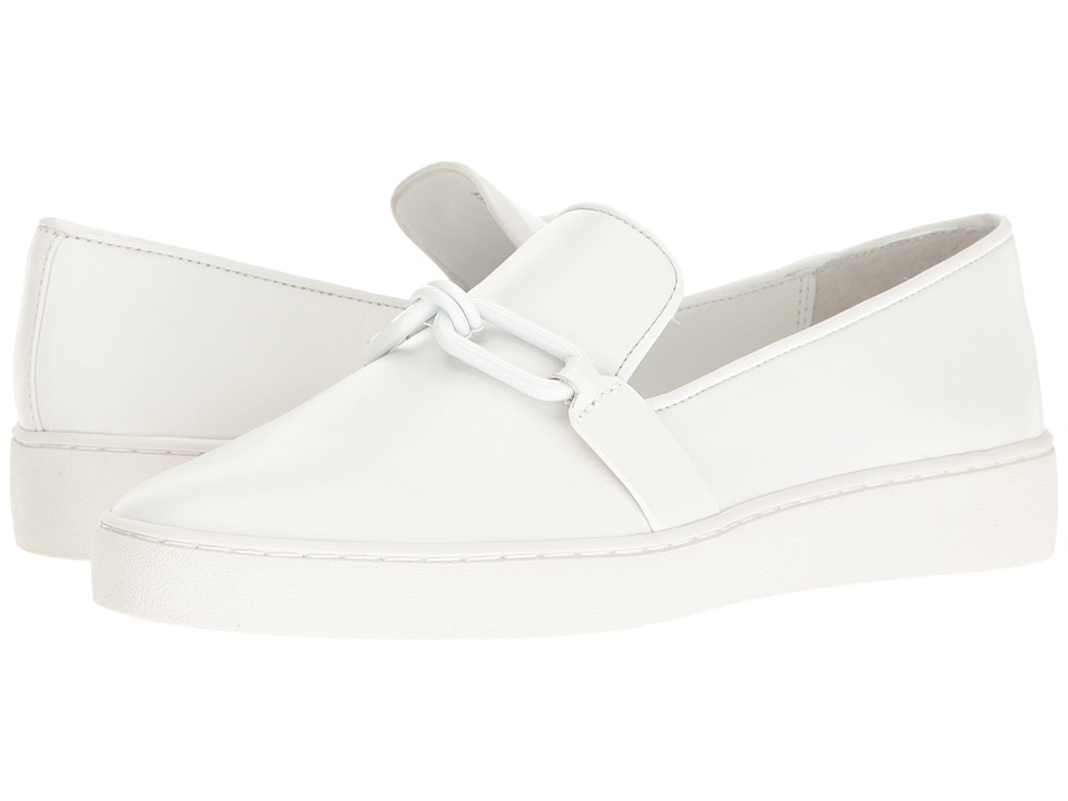 Michael Kors Lennox Slip-On (Optic White Vachetta) Women