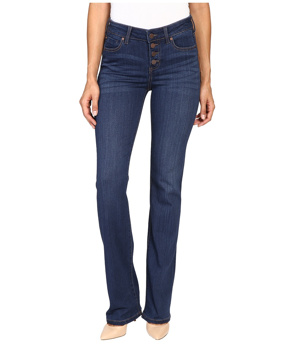Liverpool - Blake Button Up Boot Jeans in Lakewood Mid Blue (Lakewood Mid Blue) Women's Clothing