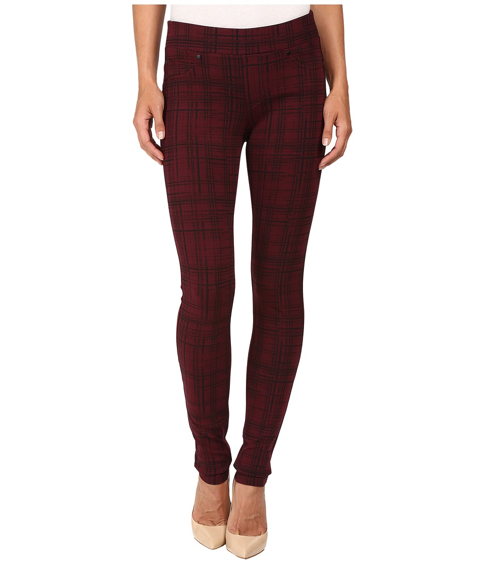 Liverpool - Quinn Pull-On Leggings (Sketch Windowpane/Port Wine) Women's Jeans
