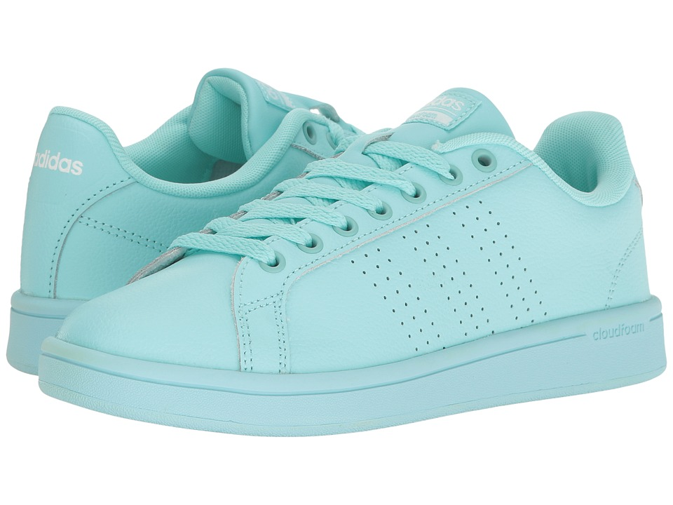 adidas - Cloudfoam Advantage Clean (Clear Aqua/Clear Aqua/Running White) Women's Court Shoes