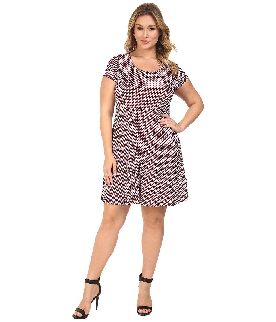 MICHAEL Michael Kors Plus Size Esher Cap Sleeve Dress (Shore Blue) Women