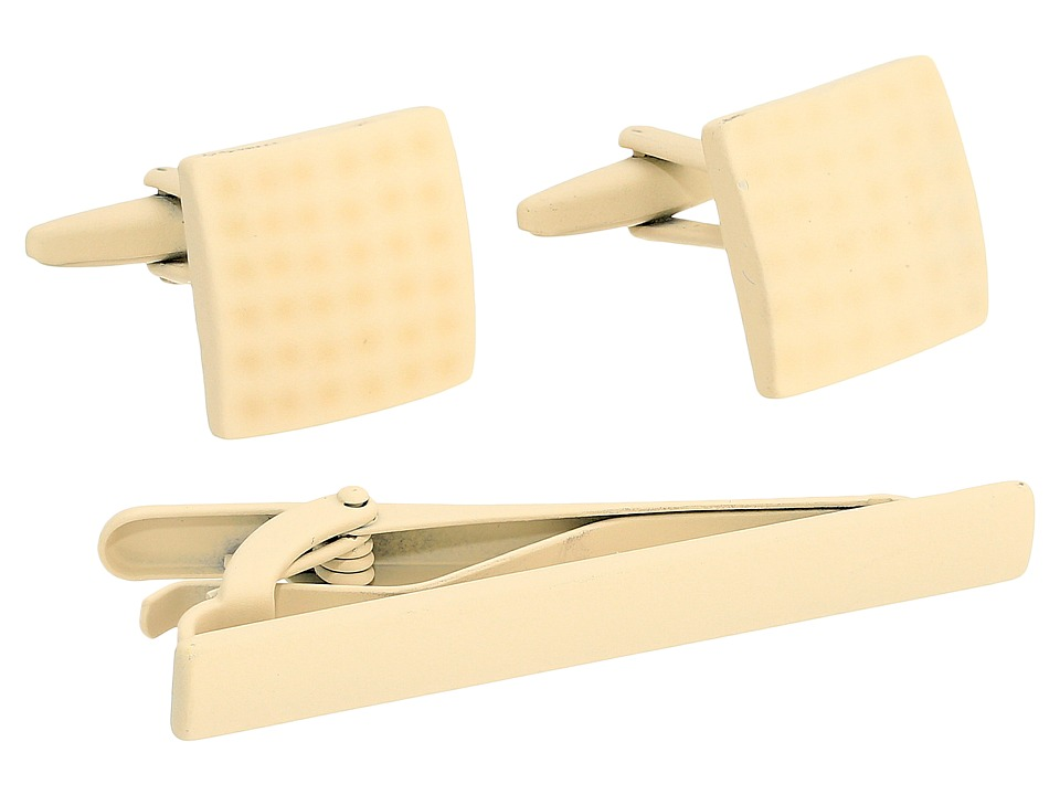 Stacy Adams - Powder Coated Cuff Link Tie Bar Set (Stone) Cuff Links