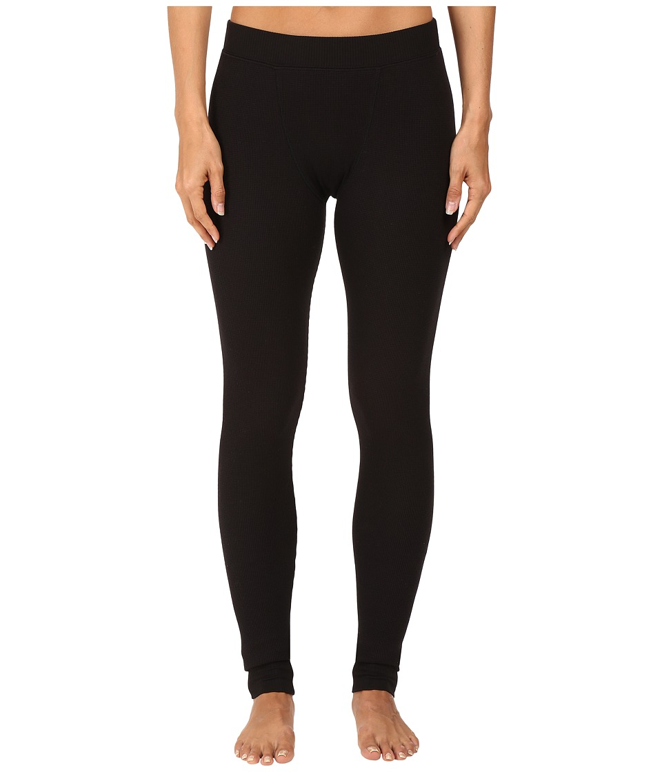 Yummie - Waffle Knit Long Johns (Black) Women's Casual Pants