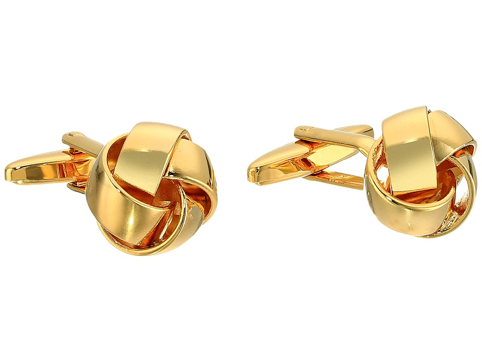 Stacy Adams - Soft Love Knot Cuff Links (Gold) Cuff Links