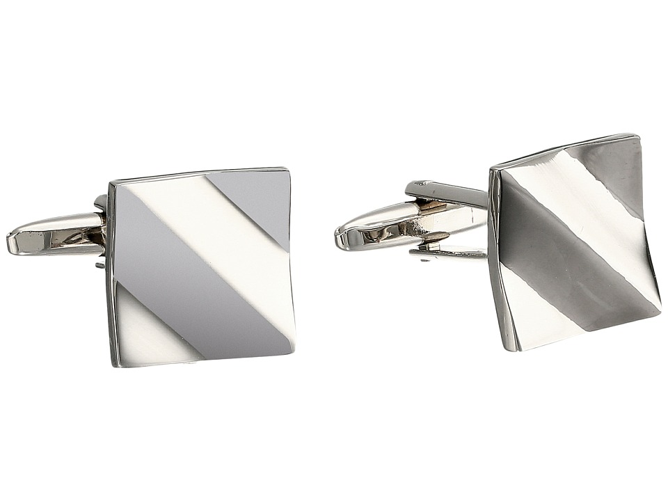 Stacy Adams - Square Diagonal Cuff Link (Two-Tone) Cuff Links
