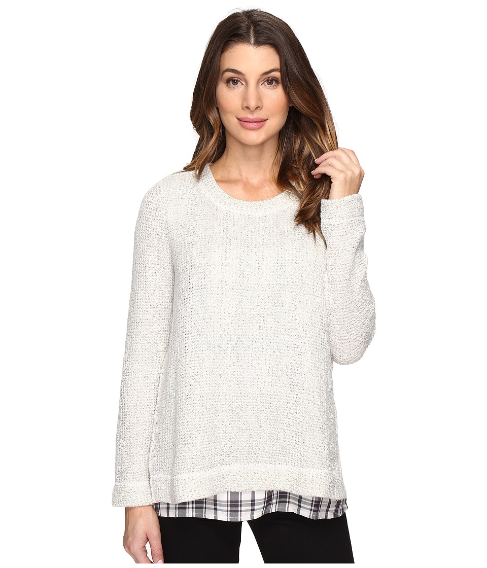 Sanctuary - The One N' Done Sweater (Winter White/Maxwell Plaid) Women's Sweater