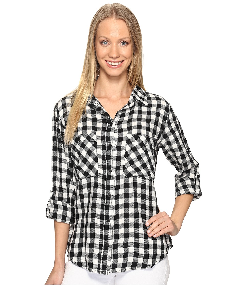 Sanctuary - The Steady Boyfriend Shirt (Black/White Buffalo Check) Women's Clothing