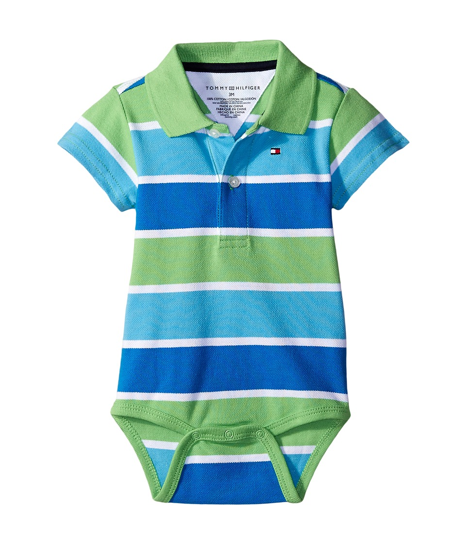 Tommy Hilfiger Kids - Shaun Bodysuit (Infant) (Zen Blue) Boy's Jumpsuit & Rompers One Piece