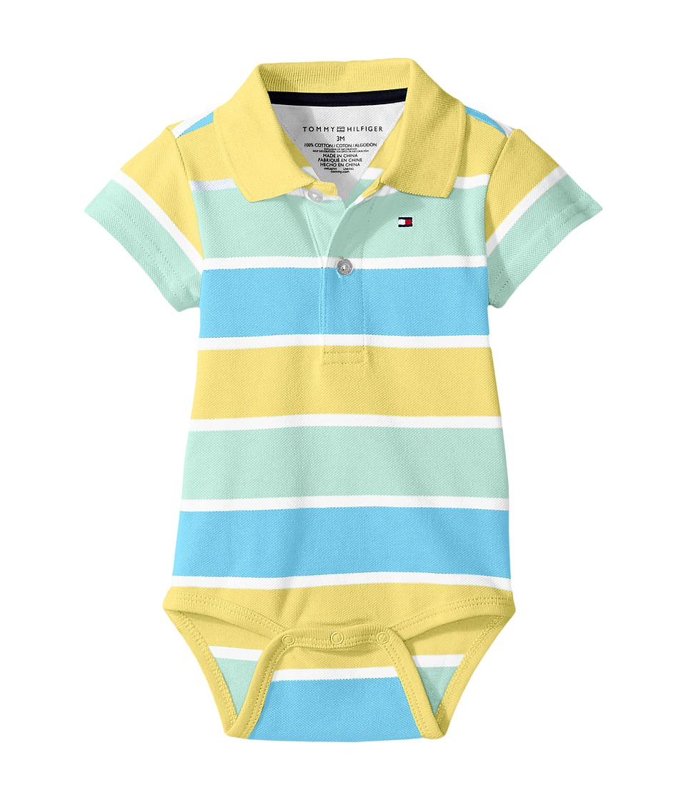 Tommy Hilfiger Kids - Shaun Bodysuit (Infant) (Tara Yellow) Boy's Jumpsuit & Rompers One Piece