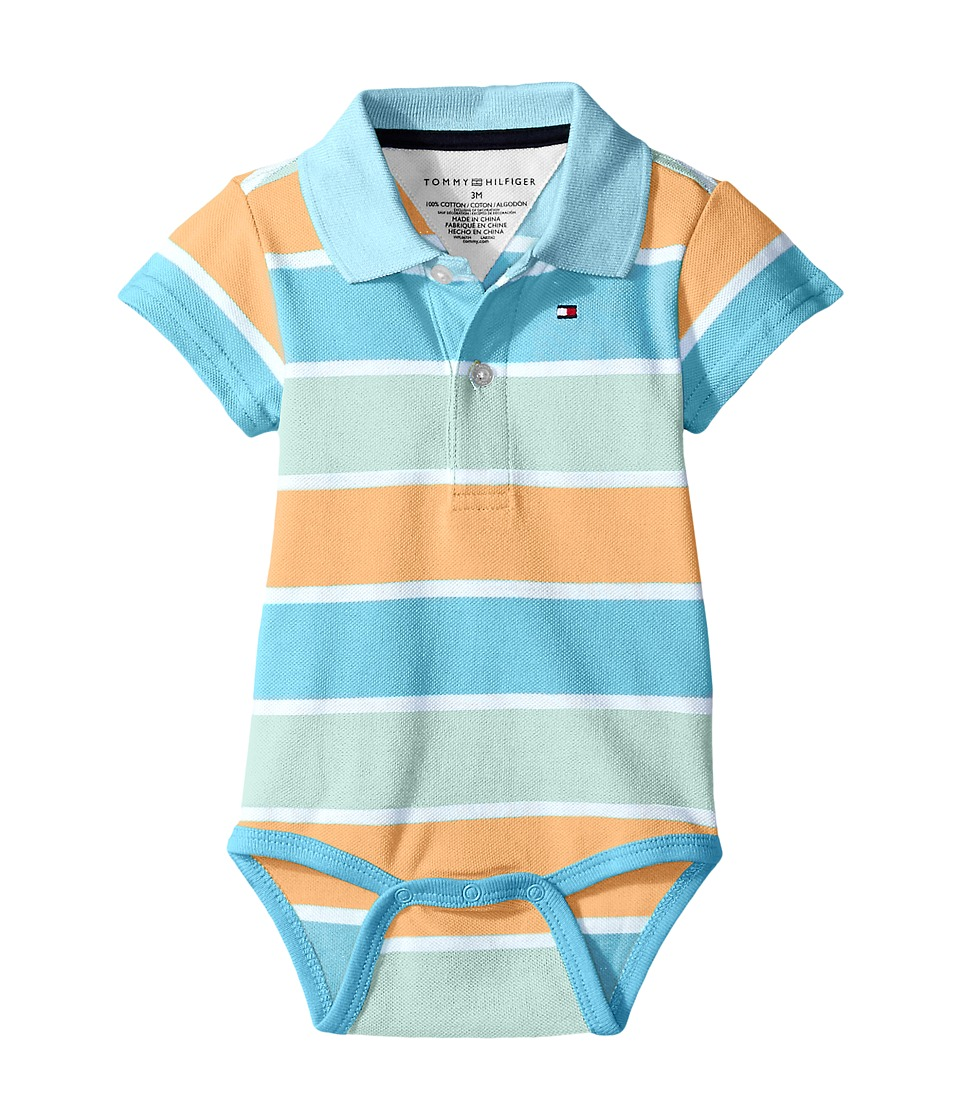 Tommy Hilfiger Kids - Shaun Bodysuit (Infant) (Cup Coral) Boy's Jumpsuit & Rompers One Piece