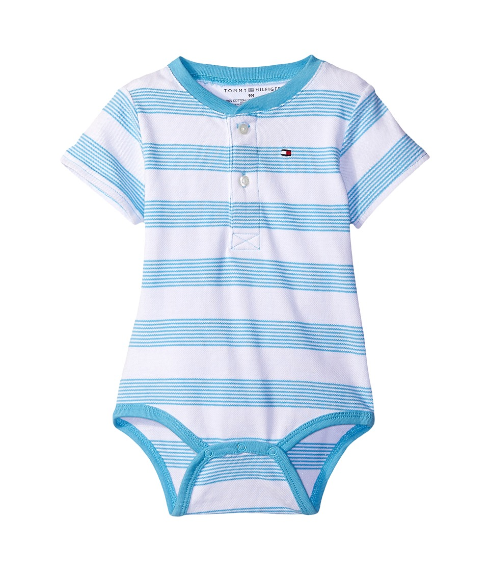 Tommy Hilfiger Kids - Walli Bodysuit (Infant) (Zen Blue) Boy's Jumpsuit & Rompers One Piece