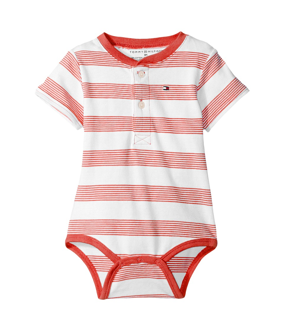 Tommy Hilfiger Kids - Walli Bodysuit (Infant) (Flame Scarlett) Boy's Jumpsuit & Rompers One Piece
