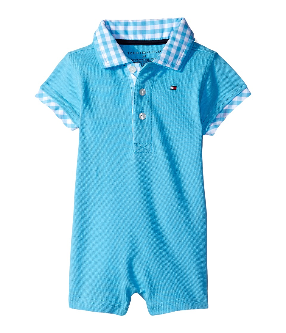 Tommy Hilfiger Kids - Baxter Romper (Infant) (Zen Blue) Boy's Jumpsuit & Rompers One Piece