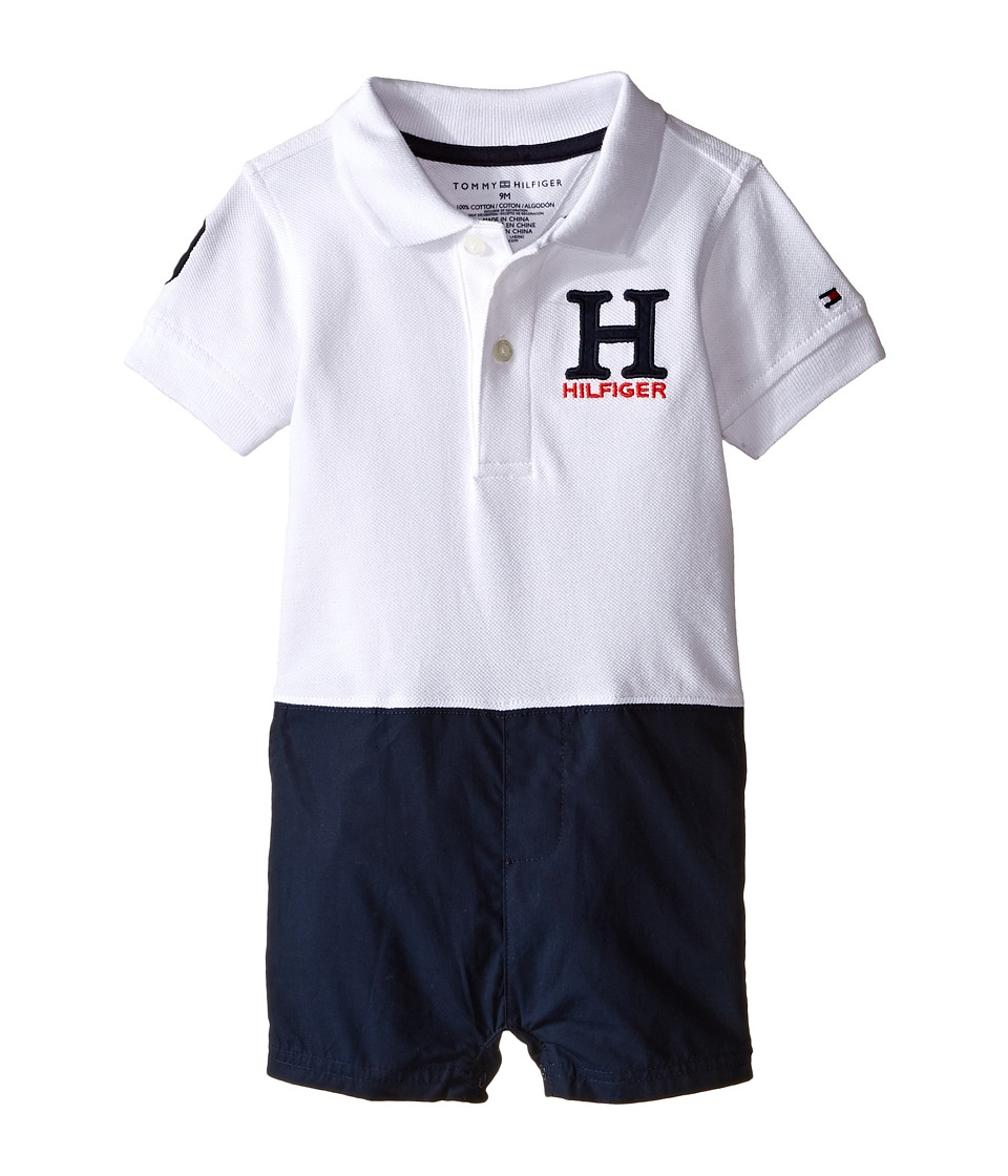 Tommy Hilfiger Kids - Matt Romper (Infant) (White) Boy's Jumpsuit & Rompers One Piece
