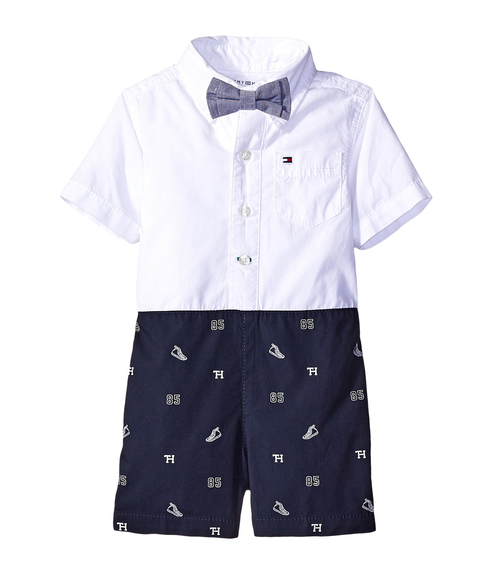 Tommy Hilfiger Kids - Banner Romper (Infant) (TH Swim Navy) Boy's Jumpsuit & Rompers One Piece