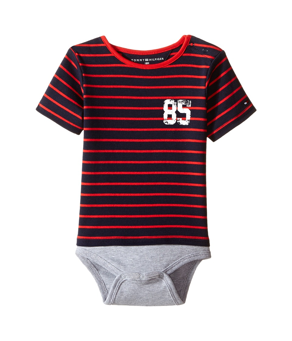 Tommy Hilfiger Kids - Tommy Bodysuit (Infant) (Grey Heather) Boy's Jumpsuit & Rompers One Piece