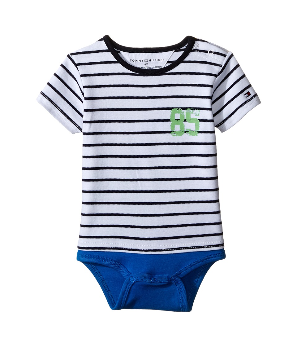 Tommy Hilfiger Kids - Tommy Bodysuit (Infant) (Electric Blue) Boy's Jumpsuit & Rompers One Piece